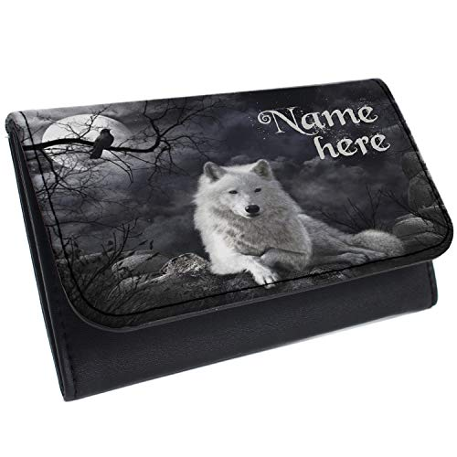 White Wolf Tobacco Pouch Rolling Baccy Wallet Smoking Personalised Gift ST732