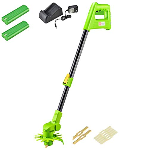 Fantastic Prices! JXH Electric Strimmer Cordless Lawn Edger Cutter 12V Lawn Mower Grass Trimmers for...