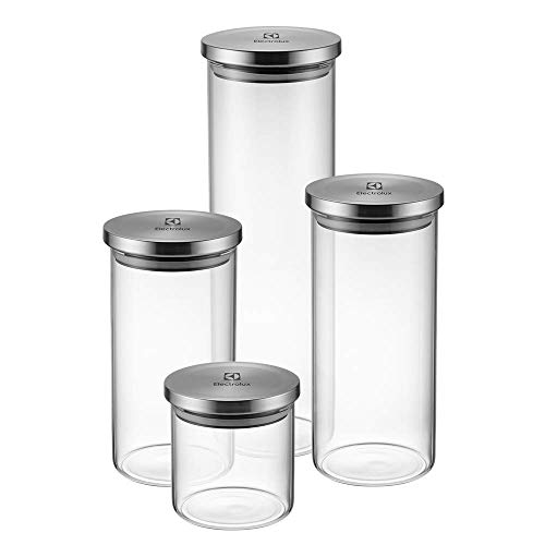 Kit Potes de Vidro Hermético, 4 unidades, Electrolux