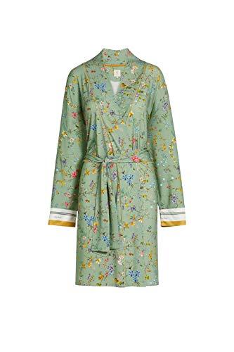 PIP Studio Nisha Kimono Petites Fleurs Farbe Green Größe S Morgenmantel Bademantel