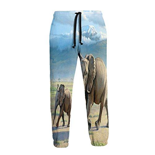 Sunny R Nördlich des Kilimanjaro Elephant Herren Jogginghose Athletic Pant Hose Laufhose Sporthose XXL
