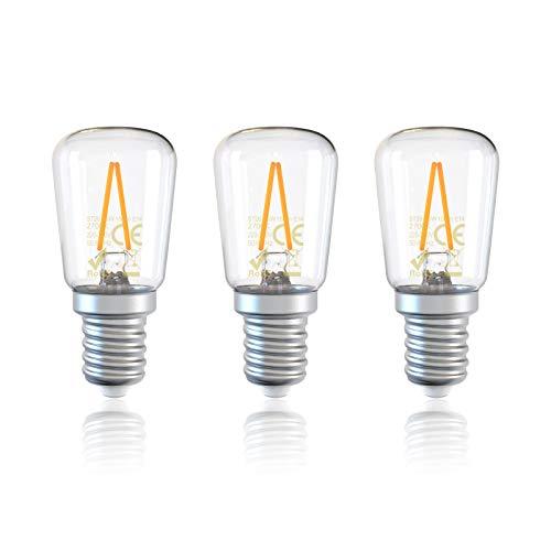 DGE 3Pack E14 LED Fridge Light Bulb 1.5W=15W 150Lm E14 Samll Edison Screw(SES) LED Filament Light Bulbs for Freezer/Microwave/Cooker Hood,2700K Warm White, Non-dimmable[Energy Class A++]