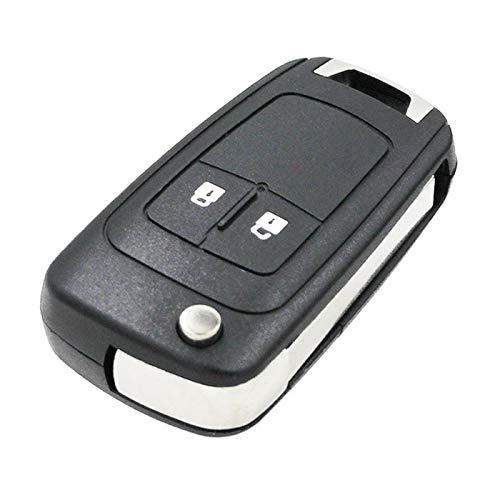Cguard - Funda para llave de coche con 2 botones y mando a distancia compatible con Opel Vauxhall Bu