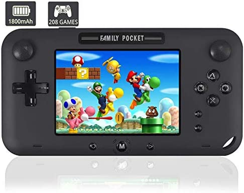 JAOK Handheld Game Console Portable Game Player Built in 208 HD Classic Games 4 LCD Retro Gaming product image
