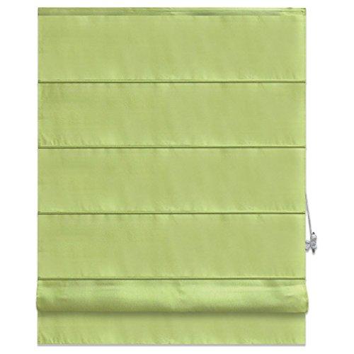Raffrollo PACIFIC - grün - 60x160 cm | Raffgardine mit Klemmträger