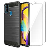 AROYI Cover Samsung Galaxy M30s&[2 Pack] Protettiva in Vetro Temperato,Custodia Samsung Galaxy...