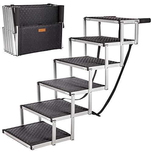 ONVAYA® Hundetreppe faltbar | Hunderampe Einstieghilfe für Autos oder hohe Betten | klappbare Haustiertreppe | stabile Hundeleiter | praktisch & leicht | für bis zu 60 kg (6 Stufen)