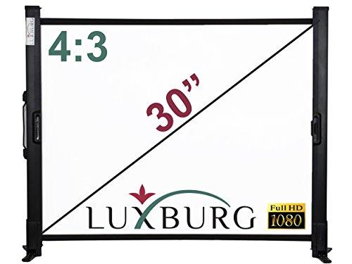 Luxburg LWT-LX-30 Full HD 3D Tischleinwand (76,2 cm (30 Zoll), 4:3, 61x45 cm Beamer Leinwand) weiß