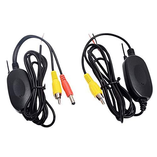 CVBN Kit de Receptor de transmisor de Video inalámbrico 2.4G para cámara de visión Trasera de automóvil, Negro
