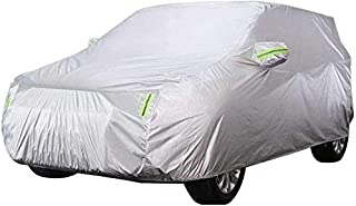 ZGYQGOO Car Cover - Waterproof Breathable Rain Dust Sun UV All Weather Protection for Automobile Outdoor Indoor for Skoda Kodiaq Off-Road Vehicle SUV, Silver