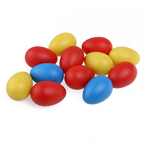 ULTNICE 12pcs plástico percusión huevo musical maracas huevo coctelera niños niños juguetes (color aleatorio)