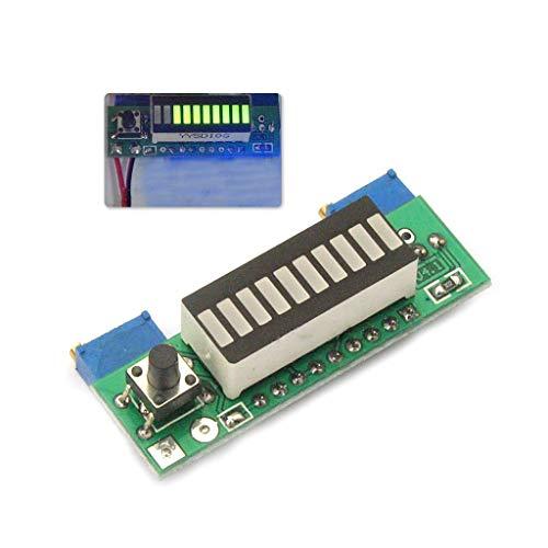 WDFVGEE Kits de bricolaje LM3914 3.7 V batería de litio indicador de capacidad módulo probador LED placa de visualización para medición precisa que proporciona datos precisos