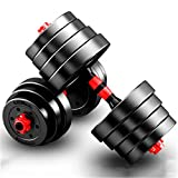 CCTYCC Dumbbell, Rubber,5kg Weight, Mute, Adjustable, for Sports Strength Training, Fitness Gym Aerobic - a Set of Two