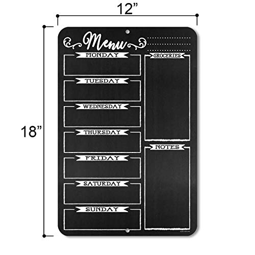 Honey Dew Gifts Chalkboard Style Menu Board 12 inch by 18 inch Tin Sign Durable and Easy Hanging on Wall Photo #2