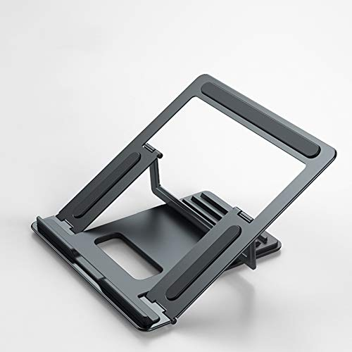 YUY Laptop Stand, Metal Folding Notebook Stand, Foldable Laptop Riser Compatible Adjustable Laptop Stand For Laptops, Tablets And Notebooks,Grey