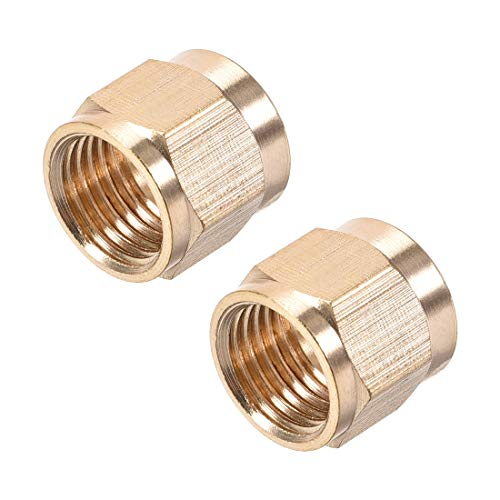 uxcell Brass Tubing Nut Tube Fitting Compression Insert Hydraulic Nuts M10x6mm 2pcs