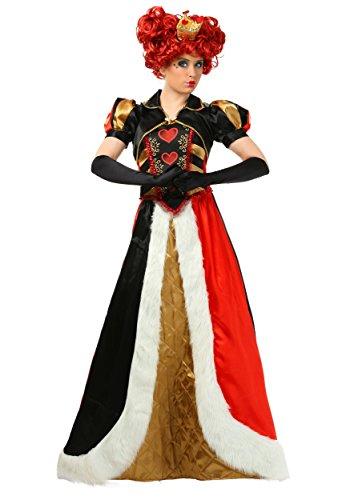 Women's Wonderland Queen of Hearts Costume Adult Elite Queen of Hearts Costume Small Black,red