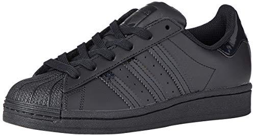 adidas Unisex-Kinder Superstar J Sneaker, Core Black/Core Black/Core Black, 38 2/3 EU