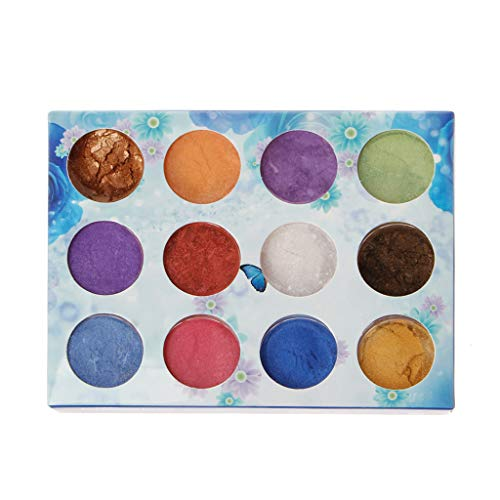 Haijun Epoxidharz Farbe 12 Box Slime Dye Powder Glimmer Perlpigment Farbstoffe Seifenkerzenharz Schmuck