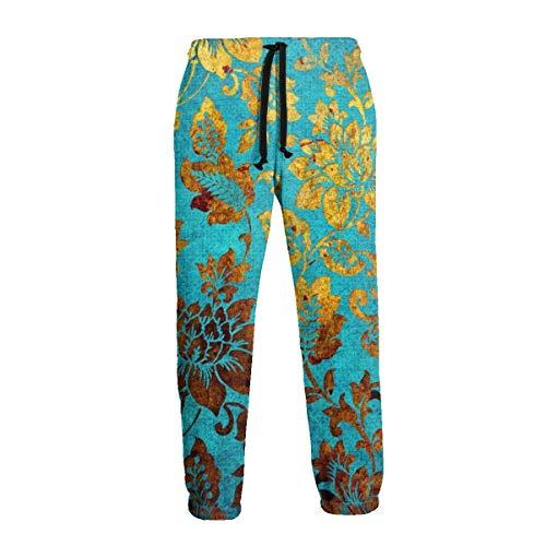 Oro Flor Dorada Damasco Tradicional Hombres Casual Active Sports Joggers Pantalones Pantalones Pantalones de chándal 3XL