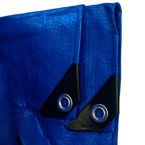Lona Alquitranada Lona de Plástico Impermeable para Exteriores, Cubierta de Lona Impermeable con Ojales Reforzados, Toldo Azul Naranja para Patio Jardín Pérgola Perrera Pabellón (Size : 2m x 9m)