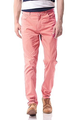 Pau1Hami1ton Herren Chino Hose, Stoffhose Aus Stretch Baumwolle Tapered Fit, PH-17(40, Pink)