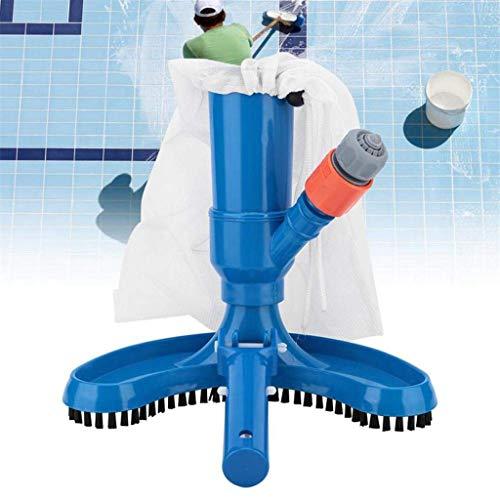 Hukz Pool Staubsauger, Poolreinigung Bodensauger Vakuumsauger, Tragbare Reinigungsset Pool Set, Mini JV Vac Vacuum Cleaner Venturi Poolsauger Saugbürste Poolbürsten Reinigungsbürste (Blau)