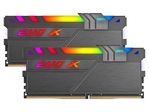 GeIL EVO X Two RGB DDR4 3200 Mhz (PC4-25600) 16GB (8GB x 2) Desktop Illuminating Gaming Memory Module (Black)