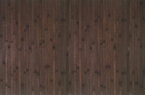 STOR PLANET Alfombra Bamboo Cool Wengé 80 x 150 cm, Bambú, Marrón Oscuro