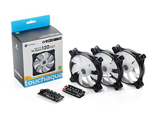 Bitspower Touchaqua NJORD RGB 70 CFM 120 mm Fans 3-Pack
