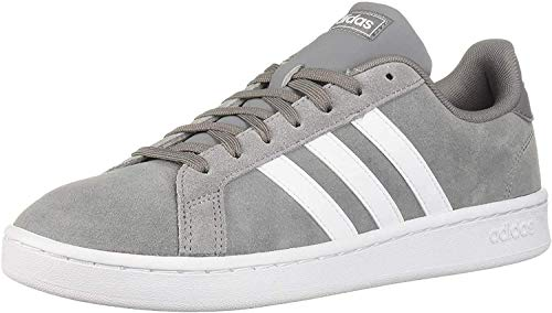 adidas mens Grand Court Sneaker, Grey/White/Grey, 11 US