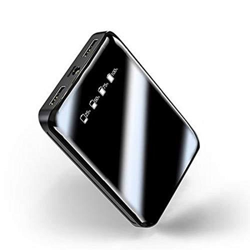 xiaoxioaguo Negro banco de energía dual USB teléfono móvil batería externa cargador portátil banco de energía carga rápida