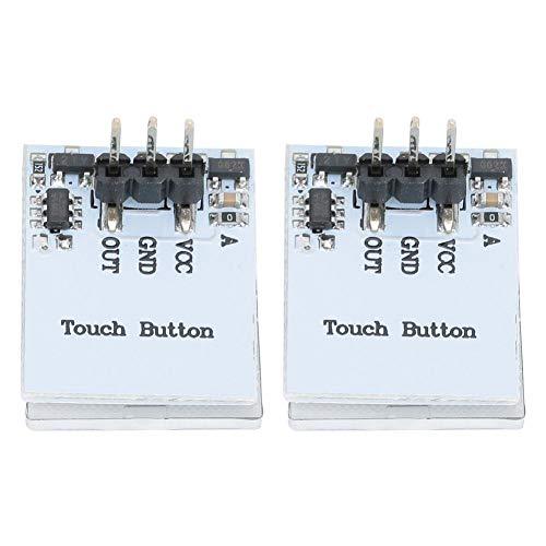 FTVOGUE 2 Piezas HTTM 2.7V-6V Módulo de botón de Interruptor táctil Capacitivo Anti-interferencia Módulo de Interruptor de Sensor LED RGB(Verde)