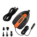 16PSI Max SUP Air Pump Electric - 12V DC Car Connector, Smart Dual Stage Inflation & Auto-Off, Digital Adjustable LCD Function, SUP Pump for Inflatable Stand Up Paddle Boards, Boats, Kayak