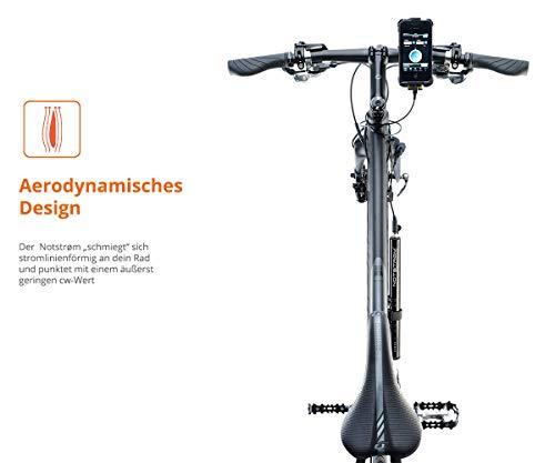 ZNEX NOTSTRØM™ | Wasserdichte IP67 Power Bank mit Rahmenhalter fürs Fahrrad, Rennrad, MTB, Trekkingrad zum Laden von iPhone Handy GPS GoPro USB Bike Lampe | 10000mAh/2.4A - 6
