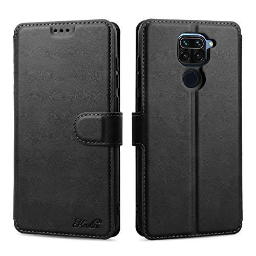 Keallce für Xiaomi Redmi Note9 4G Hülle, Handy Lederhülle PU Leder Hülle Brieftasche Handytasche Cover Kompatibel für Xiaomi Redmi Note 9 4G Ledertasche-6.53