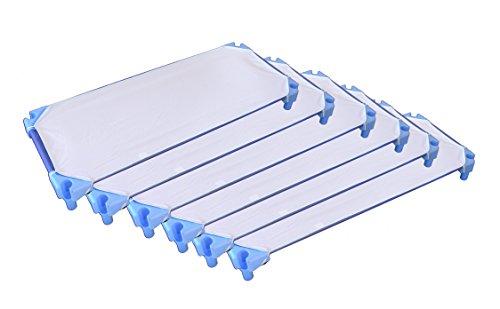 Ti TIN Bettlaken für Kinderbett, Packung enthält 6 Stück, 100% weisser Baumwolle, 53 x 132 cm