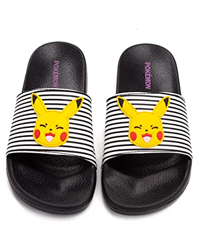 Pokemon Sliders Mädchen Kinder Pikachu Sandalen Beach Dusche Schuhe Flip Flops 32