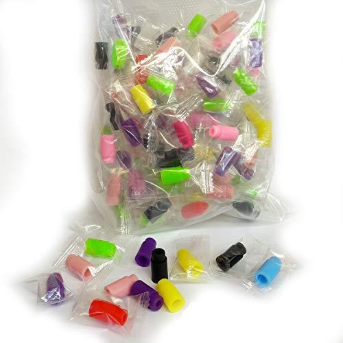 100x Drip Tips Multi Color Soft Silicone usa e getta multicolori per atomizzatori sigarette elettroniche