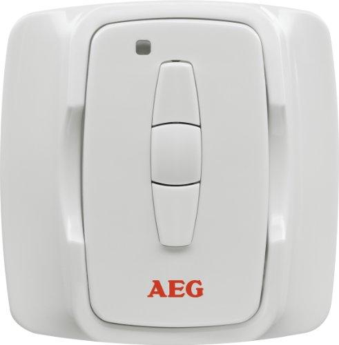 AEG IR Funk W, Funk-Fernbedienung zur Regelung des IR Funk Dimmer 2000 für Infrarot-Heizstrahler, weiß, 229965