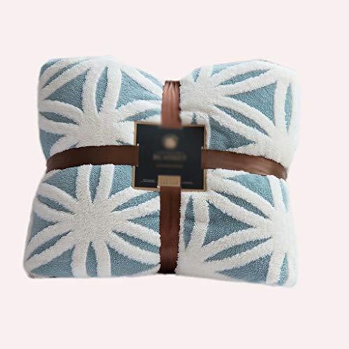 ZDNB Flauschige Decken Blaue Haushaltsdecken, Flauschige Decken, Bettdecken (auch für Sofas und Haustiere verwendet) 160 * 210 cm (1,9 kg)