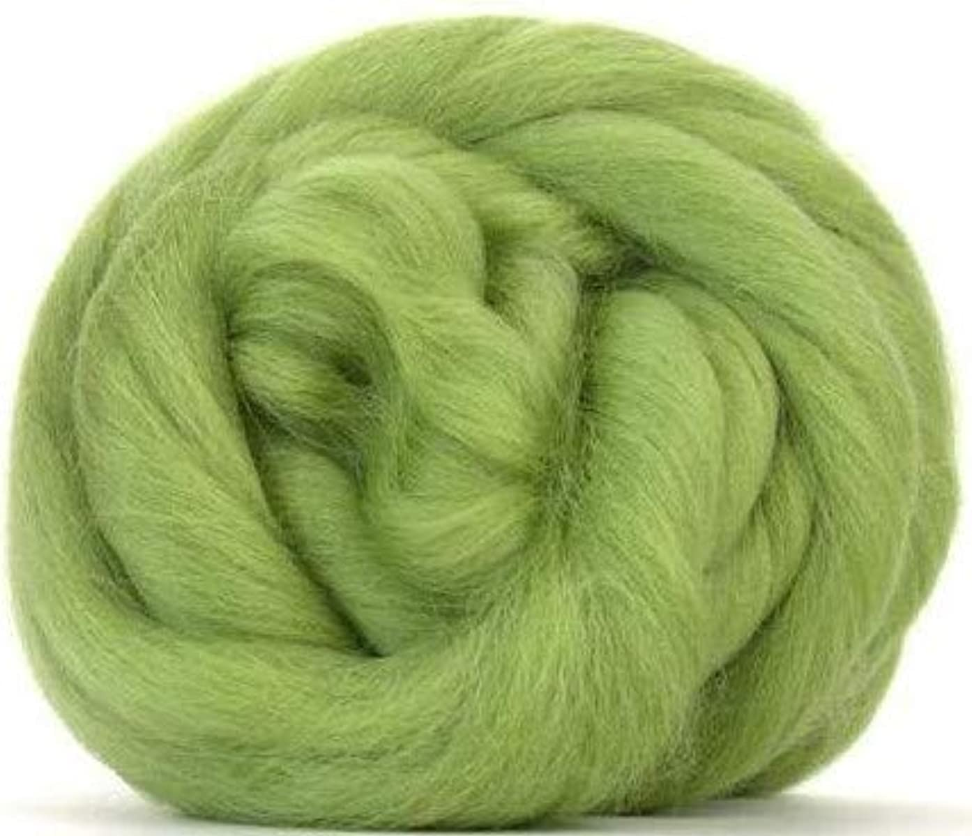 4 oz Paradise Fibers Sage (Green) Corriedale Top Spinning Fiber Luxuriously Soft Wool Top Roving for Spinning with Spindle or Wheel, Felting, Blending and Weaving