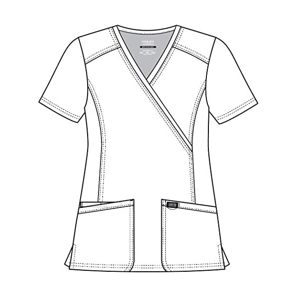 Fashion Shopping CHEROKEE Workwear Revolution Mock Wrap Scrub Top