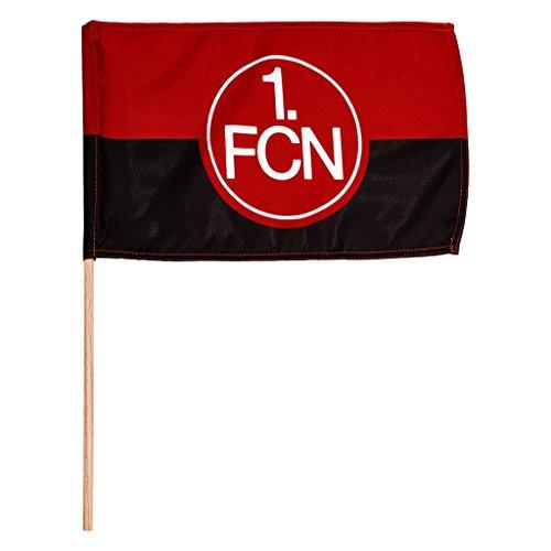 1. FC Nürnberg FCN Fahne Flagge Mini rot-schwarz mit Holzstab 45 x 30 cm Lizenzprodukt