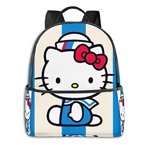Hello Kitty - Mochila impermeable para viajes, senderismo, trabajo, para hombre