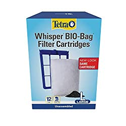 in budget affordable Tetra Whisper Bio-Bag Disposable Filter Cartridge, 12 Pieces, For Aquarium, Large, Not Assembled