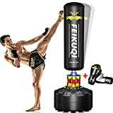 FEIKUQI Freestanding Punching Bag 70''-205lbs with Boxing Gloves Heavy Boxing Bag with Stand for Adult Youth Kids - Men Women Stand Kickboxing Bag for Home Office Gym…
