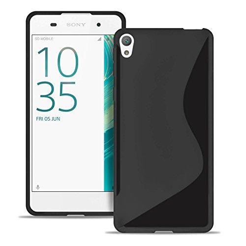 Estuche Ultra Delgado para Sony Xperia E5 El | En Negro | Funda De Línea S