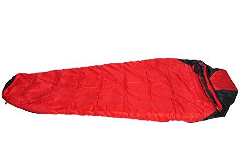 Xin.S Momie Sac De Couchage Sac Compressible Léger Imperméable Adapté Pour Le Camping Sac à Dos Randonnée Sac De Couchage Multifonctionnel. Imperméable,Red-210*85cm