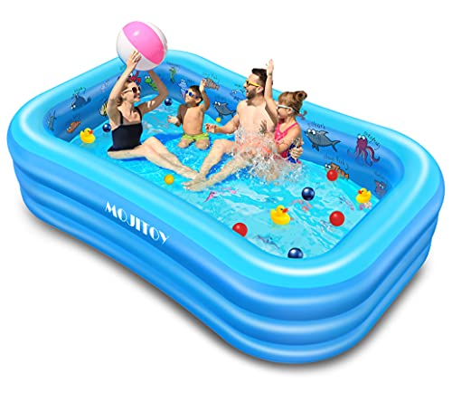 swimming pools for toddlers Inflatable Swimming Pools, Inflatable Lounge Pool for Kids, Babies, Toddlers, Adults, Outdoor, Garden, Backyard, Side Sea Animal Learning Pattern, 95